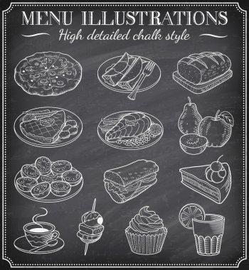 Vector Chalkboard Food Illustrations