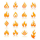 Photo fire vector icons