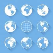 Vektorové ikony zeměkoule