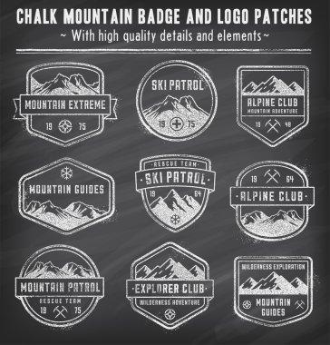 Chalkboard Mountain vector insignias