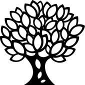 Ozdoby na jaře strom silueta