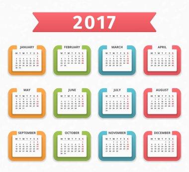 New Year 2017 Calendar