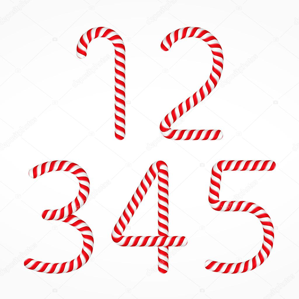 bastones de caramelo set de nmeros ilustracin de eps vector uno dos tres cuatro y cinco u vector de human