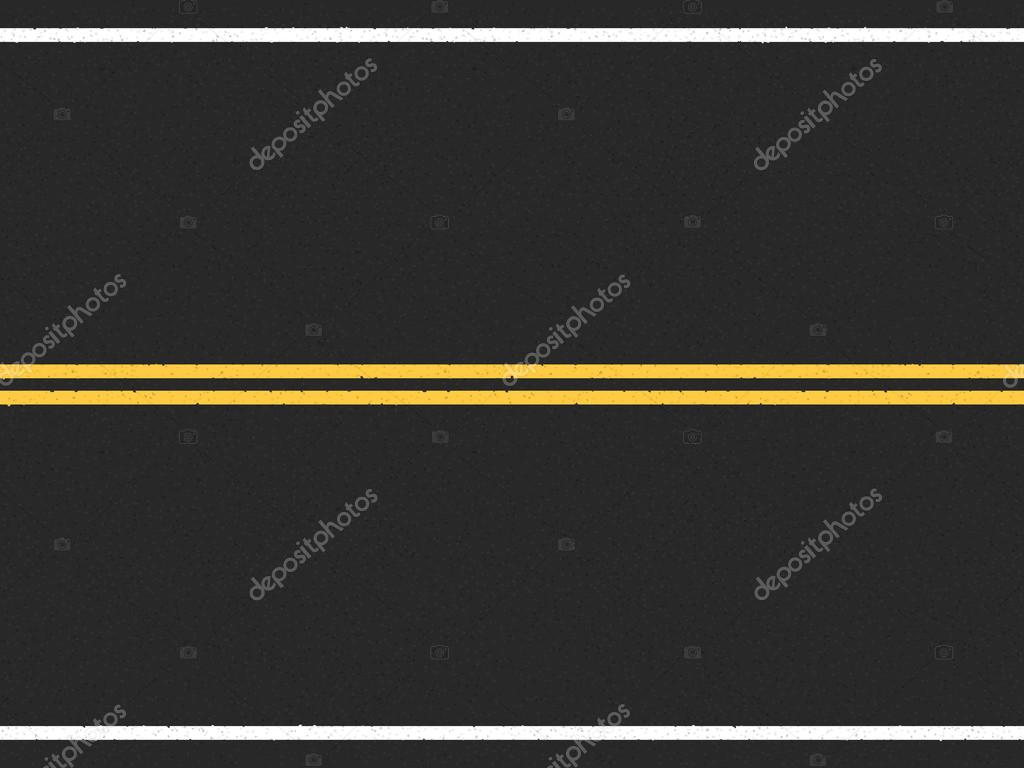 Horizontal Asphalt Road With Double Yellow Line In The Center Vector Eps10 Illustration By Human 306