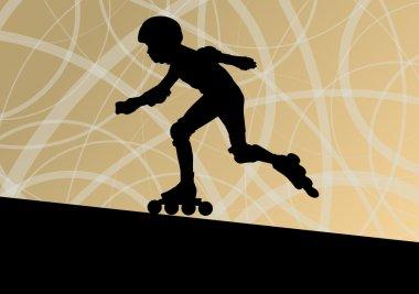 Roller skating vector background