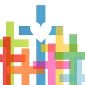 náboženství křesťanství kříž pojem abstraktní pozadí vektor