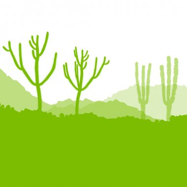 Cactus desert, ecology concept