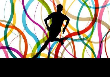 Running fitness man sprinting and training for marathon