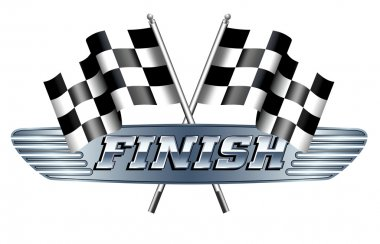 Checkered, Chequered Flags Motor Racing FINISH