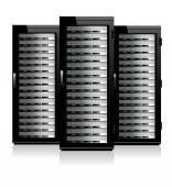 Fotografie drei Server - Server in den Schränken