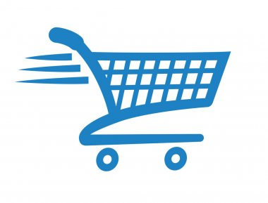 Add to cart icon for shopping websites stock vector
