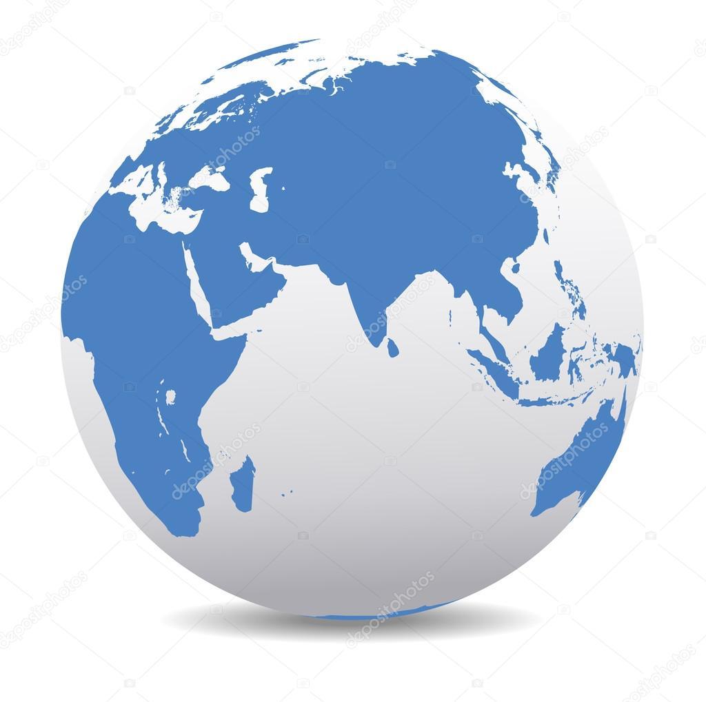 India africa china indian ocean global world stock vector india africa china indian ocean global world stock vector gumiabroncs Choice Image