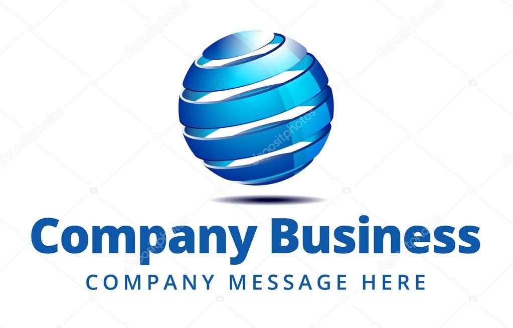 Global Company Business Logo Symbol Stock Vector