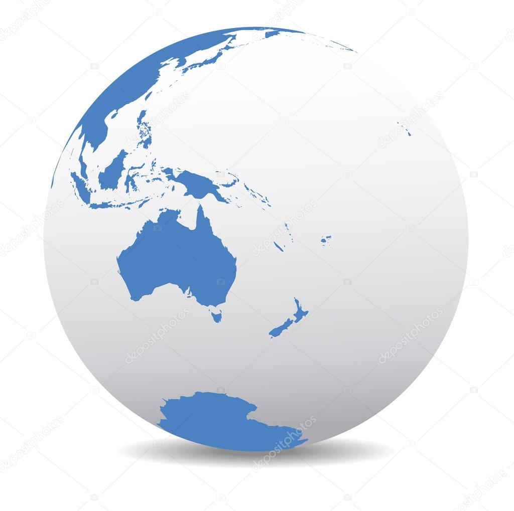 Australia and new zealand global world stock vector fenton australia and new zealand global world stock vector gumiabroncs Gallery