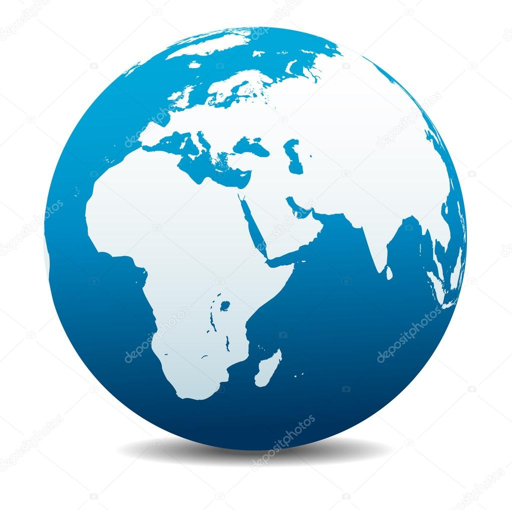Africa, Middle East, Arabia and India Global World