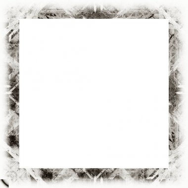 Grunge frame with scratch and watercolor effects with black and white texture. Copy space in the middle for image or advertisement text.