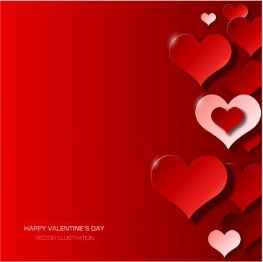 Modern red valentines day background stock vector