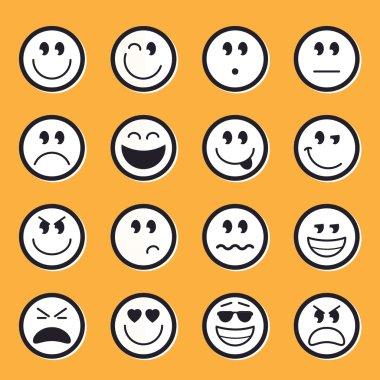 Emoticons stock vector