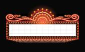 hell leuchtende Retro-Kino-Leuchtreklame