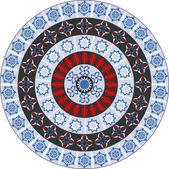 Abstraktní kruhové pole vektorové ilustrace