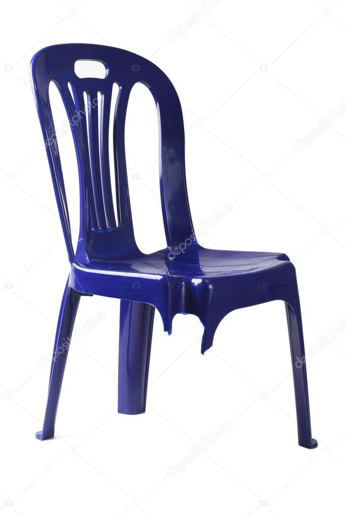 Sedia di plastica tre zampe — Foto Stock © design56 #114838622