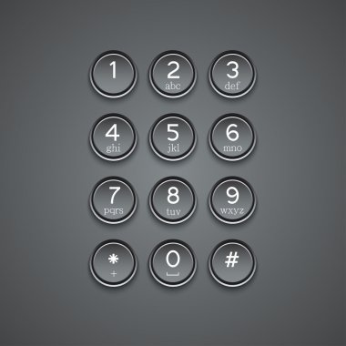 Vector modern phone keypad background