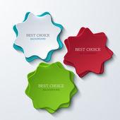 Vector háttér modern csillag bannerek. 3 változatok.