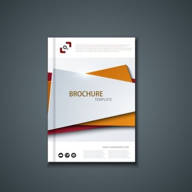 Vector flyer or banner. Brochure template design