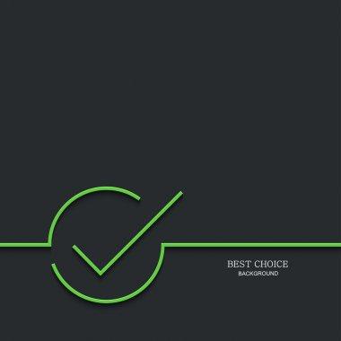 Vector modern green check mark