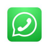 vektorové ikony moderní telefon v bublinkové řeči