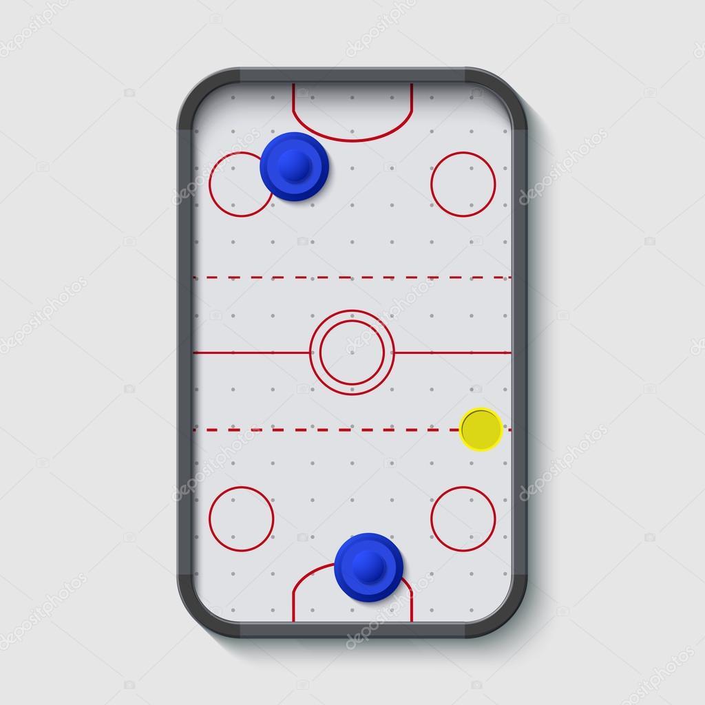 Mesa de hockey de aire moderno de vector sobre blanco vector de stock trambo 81420564 - Mesa de hockey de aire ...