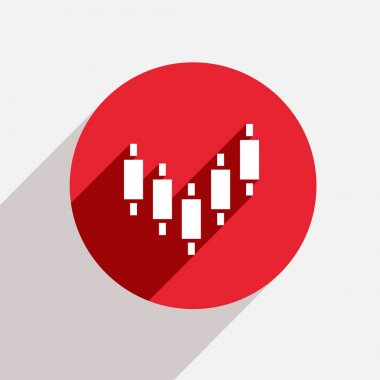 Vector modern binary options red circle icon