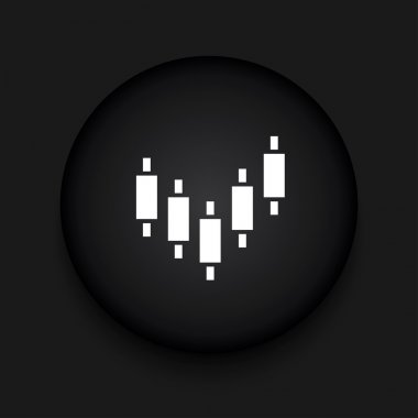 Vector modern binary options black circle icon