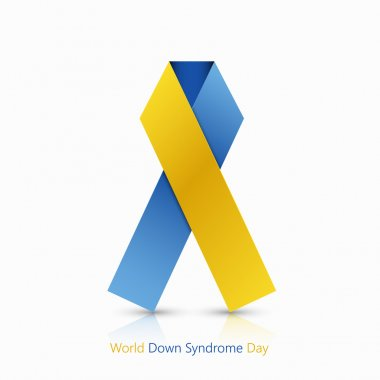 Vector world down syndrome day symbol on white