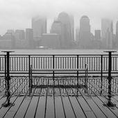 Panorama New Yorku na deštivý den