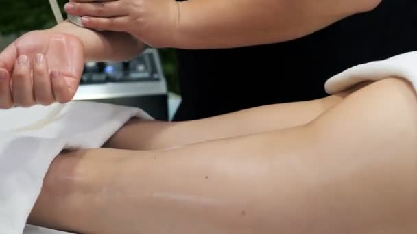 Beautiful young girl having massage in spa salon. Body massage, Massage for health