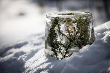 decorative Ice lantern