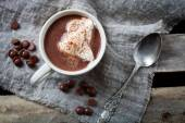 Photo Hot chocolate with whipped cream
