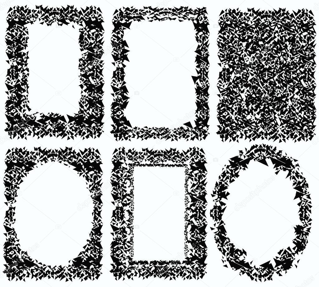 cadre noir et blanc compos de triangles image vectorielle vellas 108812616. Black Bedroom Furniture Sets. Home Design Ideas