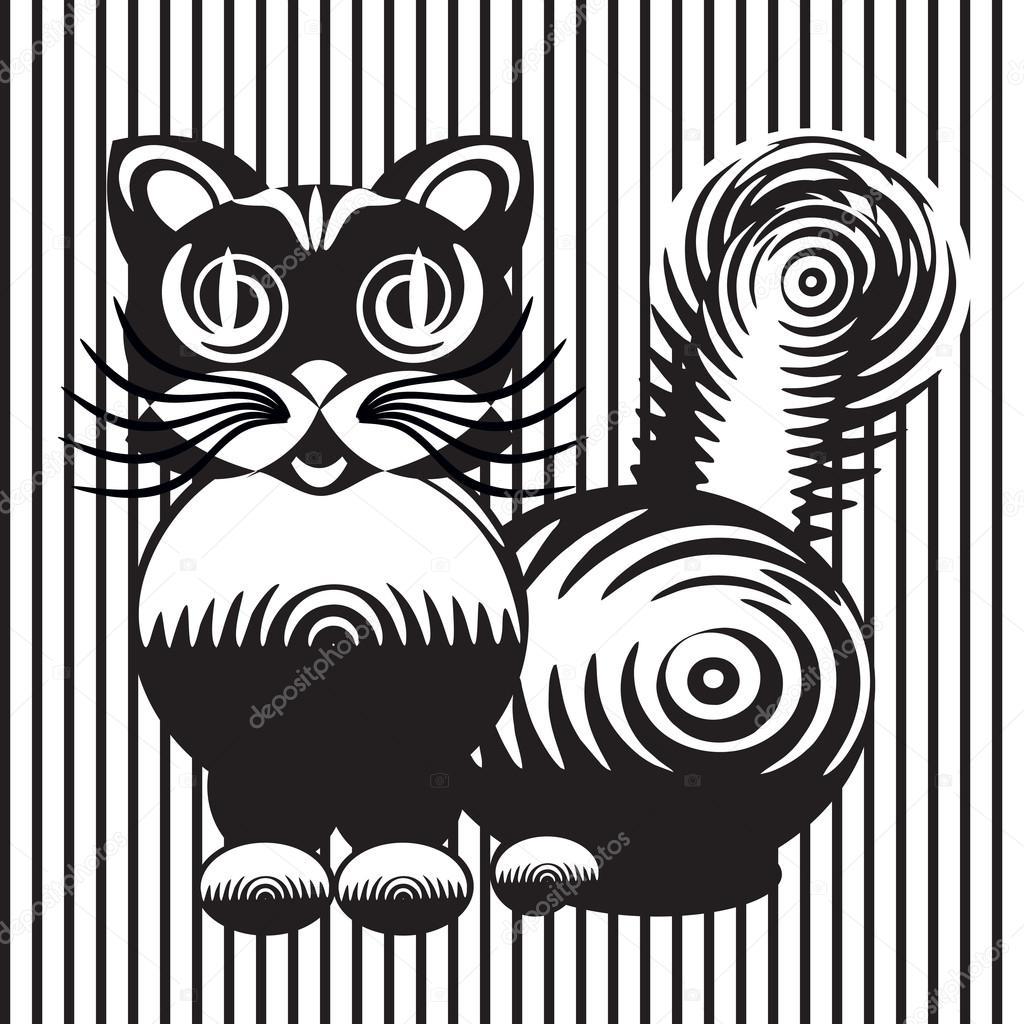 Disegno Stilizzato Di Un Gatto Vettoriali Stock Vellas 94827738