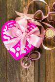 Čokolády ve tvaru srdce box