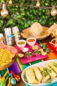 Fotografie Tamales, Erdbeere Margaritas und Pfanne Dulche Brot