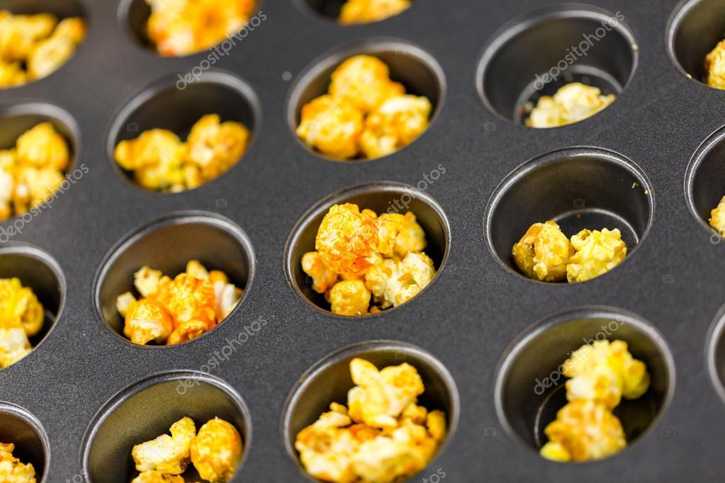 Flavored popcorn on the tray — Stock Photo © urban_light #57609201