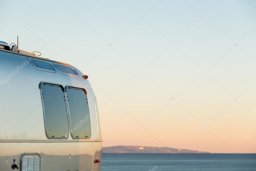 Winter RV camping, California