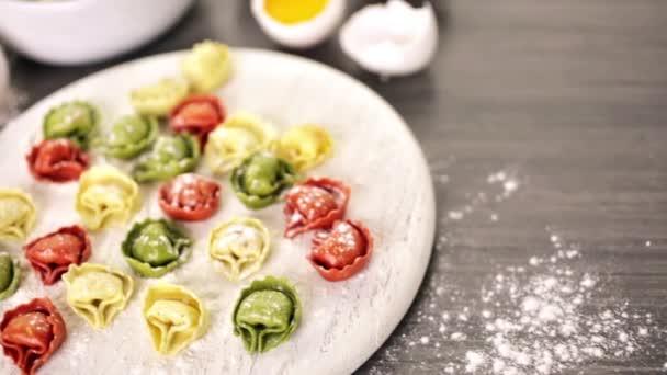 Rainbow cheese tortellini