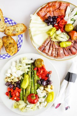 Appetizers plate with vegetarian antipasto