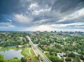 Fotografia Vista aerea del parco urbano