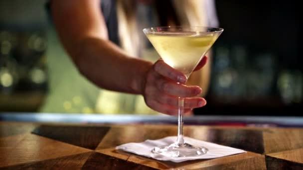 Martini cocktail hautnah