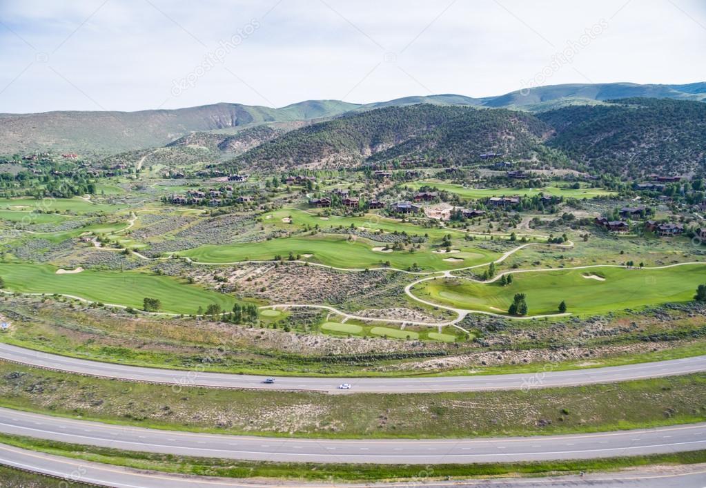 Aerial view of Colorado river