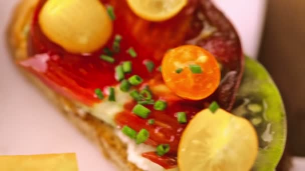 Heirloom Tomatoes sandwiches